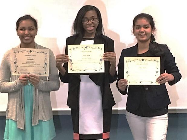 Eighth Grade Girls Essay Contest Winners